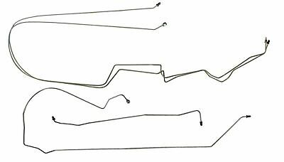 1997-2003 Grand Prix Rear Mid Chassis Brake Line Set NON ABS 4pc Tube Hose SS