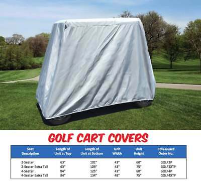 Southern Rods Golf Cart Cover GRAY Club Cart EZ GO 4 SEATER GOLF CART