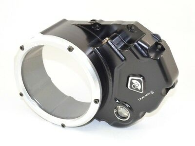 Ducabike Ducati Monster 696 Clear Clutch Cover - Black-Silver