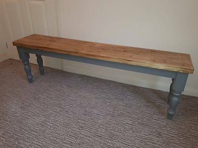 Handmade To Order Farmhouse Solid Pine Rustic Table Bench Choose Your Colour