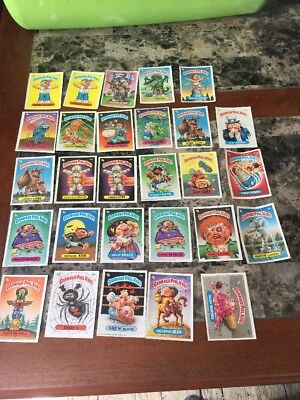 1986 Topps Lot Of 28 Garbage Pail Kids Cards/stickers Didi T. Beth Death & More
