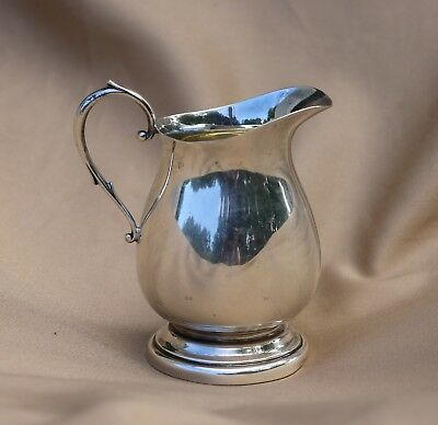 Vintage Solid Sterling Silver Creamer By Poole, Pattern # 300, 108.9 grams