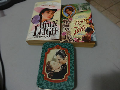 Lot of 2 Anne Edward paperback books and 1 Gone With The Wind playing cards