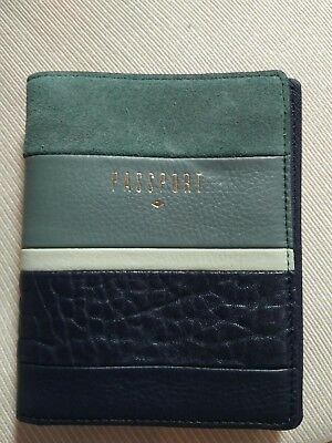 Fossil RFID Passport Wallet Leather