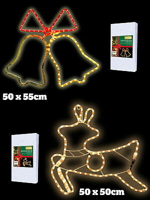 Christmas Xmas Rope Light Silhouette Indoor Outdoor Garden Festive Decoration