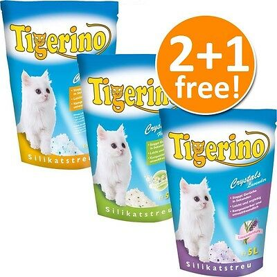 Cat Silica Crystals Litter 6 x 5l Mixed Pack 4 + 2 Free!