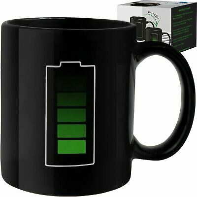 Coffee Magic Mug Color Changing Heat Sensitive Fun Battery Mug Charging Design