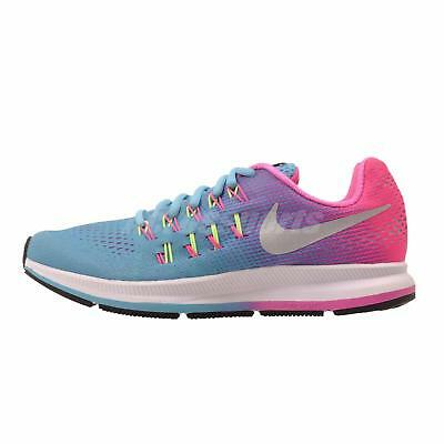 Nike Zoom Pegasus 33 GS Kids Youth Womens Running Shoes Blue 834317-400