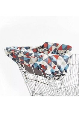 Skip Hop Compact 2 in 1 High Chair Shopping Cart Cover, Triangles, Multi