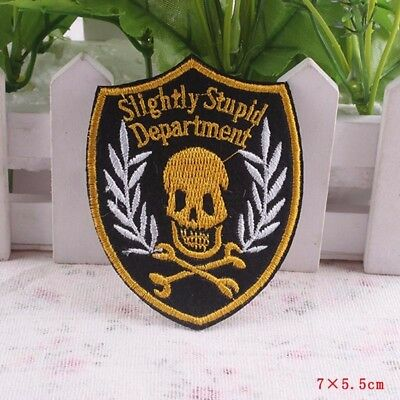 Slightly Stupid Department Badge Iron/Sew-on Patch Badge Rock Music