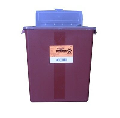 3!! Multi-purpose Sharps Container 101-8710 Medi-Pak 2-Piece 3 Gallon Red Base