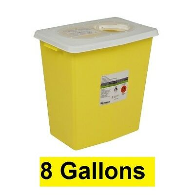 Covidien 8985 Chemotherapy 8 Gallon Sharps Container Yellow Sharp Disposal