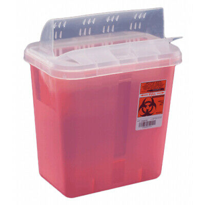 12 x Multi-purpose Sharps Container 2-Piece 3 Gallon Red Base