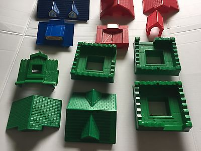 Lot Lincoln Logs Roofs Gables Replacement Pieces