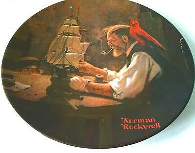 The Ship Builder 1854 Norman Rockwell Knowles Collectible Decorative China Plate