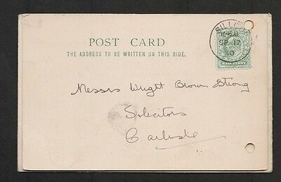 Gb Edward Vii Commercial Postcard: Silloth To Carlisle 1910