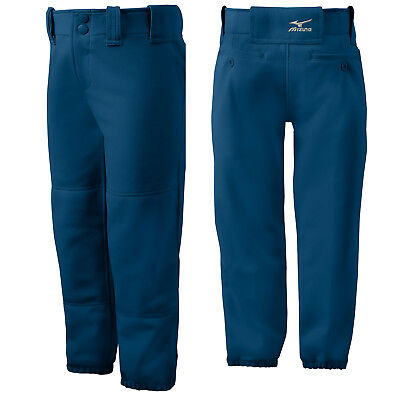 Mizuno Youth Girl's Belted Fastpitch Softball Pant - Navy - Small