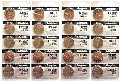 20x Genuine Energizer CR2032 ECR2032 3V Coin Button Batteries