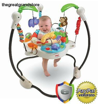 Baby Jumperoo Jumper Activity Bouncer Toy Seat Musical Jungle Toddler Center Mom