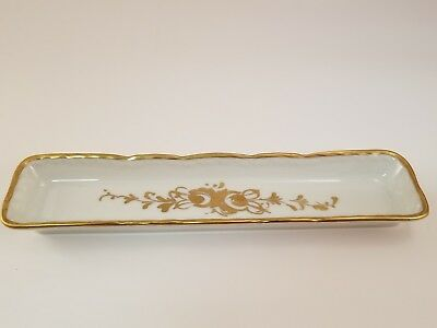 BB Vintage Hand Painted Gold Accented Trinket Tray, France