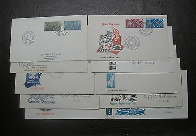 *(8) First Day Covers from Norway, 1966-1969, 5 are addressed + 2 Bonus Covers*