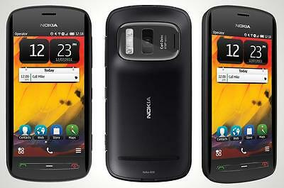 NOKIA 808 black/schwarz NEU!! NEW!! BESTES KAMERA-HANDY! BEST SMARTPHONE-CAMERA!