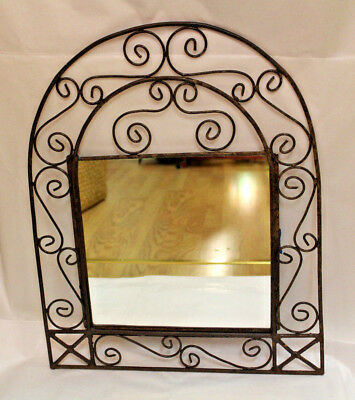 Beautiful Handmade Moroccan Wrought Iron Arched Wall Decor Mirror