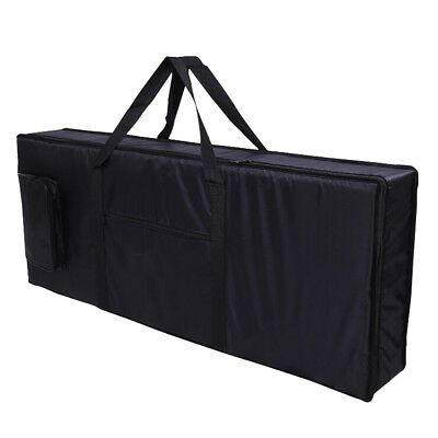 Black Portable 61-Key Keyboard Electric Piano Padded Case Bag Oxford Cloth