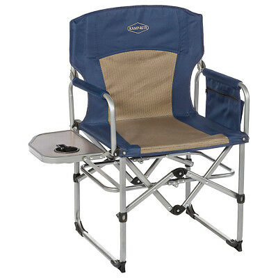 Kamp Rite Compact Director's Chair - Blue / Khaki Outdoor Accessorie NEW