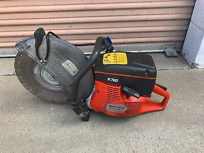 Husqvarna K760 Cut Off Concrete / Demo Saw WITH DIAMOND BLADE, gas powered