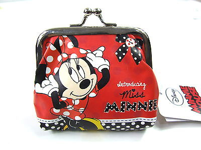 Disney Red Minnie Mouse Mini Bow Clip On Girls Purse Wallet Coin