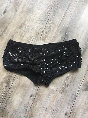 Leg Avenue Black Sequin Booty Shorts Large