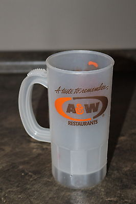 Vintage A&W Restaurant Super 22 Plastic Mug Root Beer with A&W Bear Drinking Cup