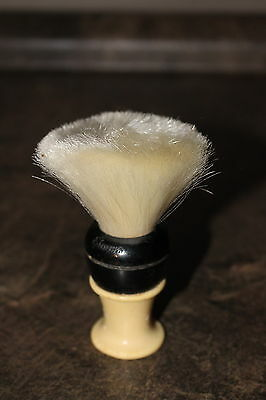 Vintage Shaving Brush Simms Sterilized Made in Canada Set in Rubber