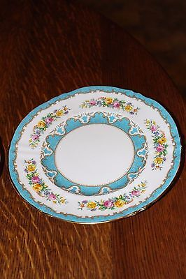 Crown Stafforshire Bone China England Lyric Tunis Blue Sandwich Plate