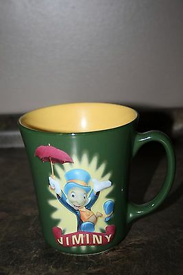 Disney Store Jiminy Cricket Coffee Mug / Cup Two Dimensional Pattern Disneyana