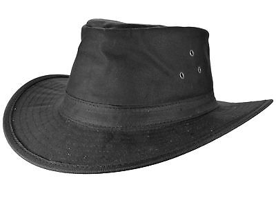 Wax Hat Oilskin Hat TRAIL RIDING waxhut Rain Hat Weather Hat Slouch Black