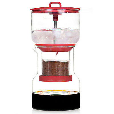 NEW Bruer Red Cold Brew Slow Drip Coffee Maker System