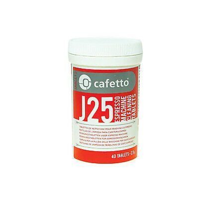 NEW Cafetto J25 Cleaning Tablets for Jura and Krups Super Auto (40 Tablet Packet