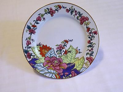 "Dessert Plate  7 1/2"""" ~ Imperial Leaf China 'tobacco Leaf'  Gold Accents"