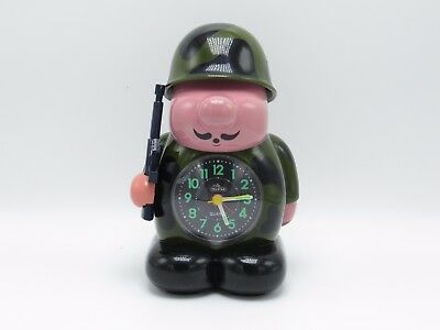 Vintage Telstar Novelty Drill/Bugle Army Soldier Alarm Clock - 1980s
