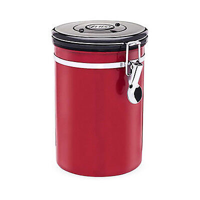 NEW Friis Red Coffee Vault - Stainless Steel Storage Canister w/ one-way valve