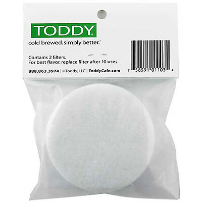 NEW Toddy 2-Pack Cold Brew Coffee Brewing Filters