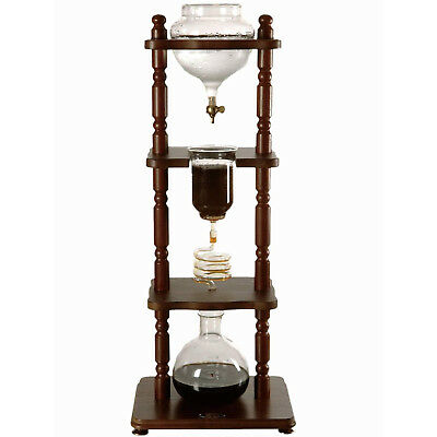 NEW Yama 6-8 Cup (32oz) Cold Drip with wooden brown frame