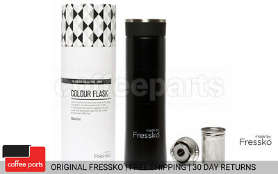 NEW Fressko 360ml Onyx Flask - brew tea or sip coffee in style & on the go
