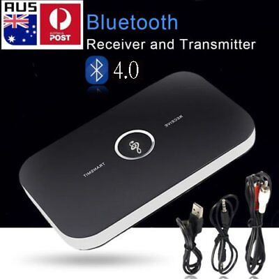 HIFI Wireless Bluetooth Audio Transmitter and Receiver 3.5MM RCA 2 in1 Adapter H