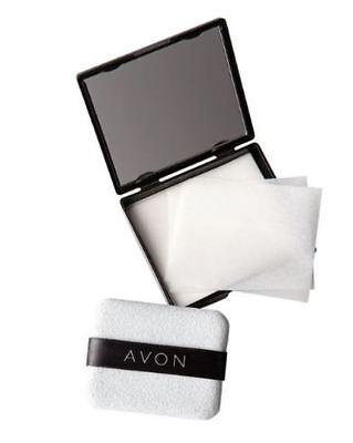 Avon Blotting paper with mirror and sponge, NEW, sealed