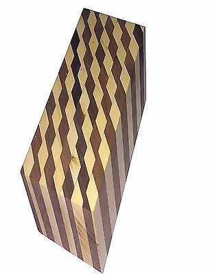 "1 Exotic Laminated  Duck call Blank ;1 3/4""sq x 51/2"" (167 g ) Free Shipping."
