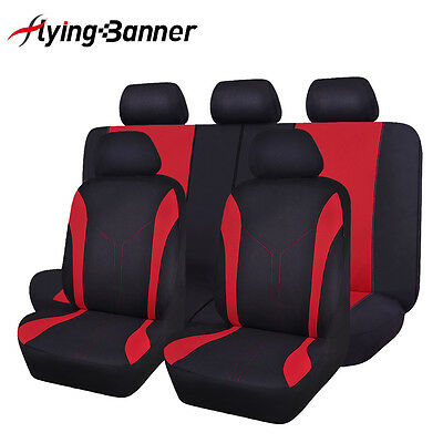 Flying banner car Seat Covers Universal fit suv red rear seat 40/60 50/50 split