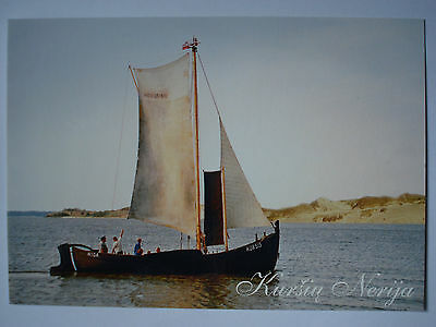Lithuania Curonian Spit Curonian Lagoon Boat postcard